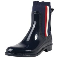 botki 'knitted rain boot' granatowy marki Tommy hilfiger