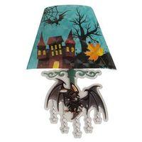 Świecąca naklejka na ścianę - lampa z nietoperzem - 22 cm (8004761043117)