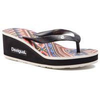 Japonki DESIGUAL - Shoes Lola Mexican 19SSHF19 2000 Czarny, kolor czarny