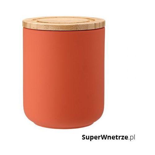 Gdzie kupić Ceramiczny pojemnik z bambusowym wieczkiem 13cm Stak Soft Matt Ladelle pomarańczowy