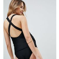 Wolf & Whistle Maternity Strappy Black Tankini B-F Cup - Black