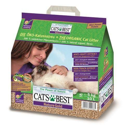 cat's best nature gold - żwirek dla kotów długowłosych drewniany zbrylający 10l (5kg) marki Jrs