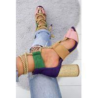 Damskie sandały MELISA PINK/NAVY, kolor wielokolorowy