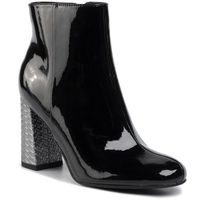 Tommy hilfiger Botki - elevated patent high heel boot fw0fw04571 black bds