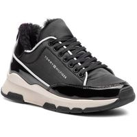 Sneakersy - cool technical satin sneaker fw0fw03970 black 990, Tommy hilfiger, 37-41