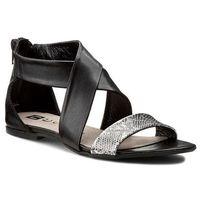 Sandały NESSI - 24101 Czarny 3/Srebro 2, w 2 rozmiarach