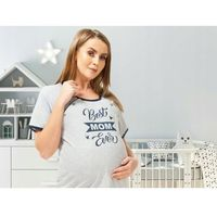 Koszula nocna ciążowa i do karmienia na napy Best Mom - szara, KNNN B. MOM SZARA
