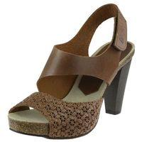 Sandały Nessi 42103 - Koniak 11+ plecionka, kolor brązowy