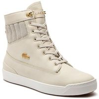Sneakersy - explorateur hi 318 1 caw 7-36caw0007ts2 nat/off wht, Lacoste