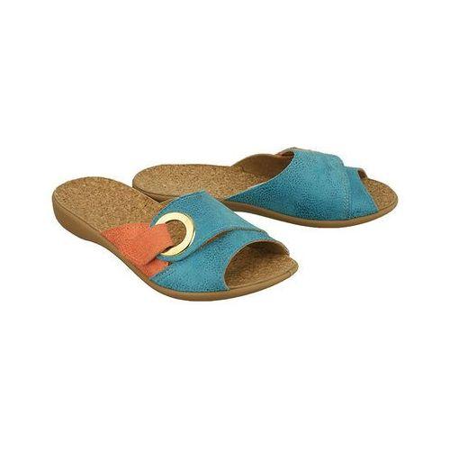 BEFADO 265D 010 niebieski, kapcie klapki damskie - Niebieski, kolor niebieski