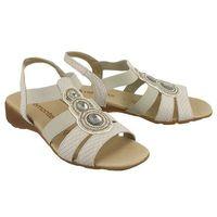 RIEKER REMONTE R5248-80 white combination, sandały damskie, kolor biały