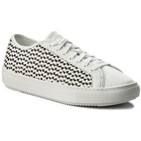 Sneakersy - jane woven 1810031 optical white/black, Le coq sportif, 36-40