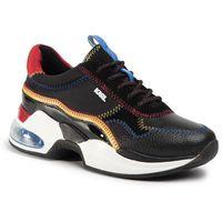 Sneakersy - kl61728 black lthr/textile w/multi, Karl lagerfeld