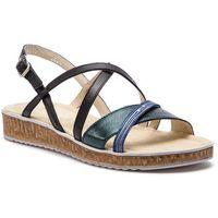 Sandały ANN MEX - 0157 13BR+01PS+01S Zielony, kolor wielokolorowy