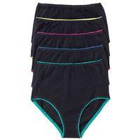 Figi z wysoką talią czarno-kolorowy, Bonprix, L-XXXXL