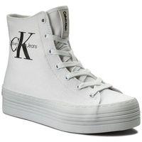 Sneakersy CALVIN KLEIN JEANS - Zabrina Canvas RE9245 White, kolor biały