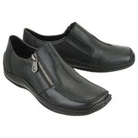 RIEKER L1780-00 black, półbuty damskie, kolor czarny