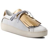 Sneakersy TOMMY HILFIGER - Playful Leather Iconic Sneaker FW0FW02978 White 100, kolor żółty