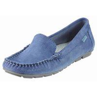 Mokasyny Nessi 17130 - Niebieski Celeste Lizard, kolor niebieski