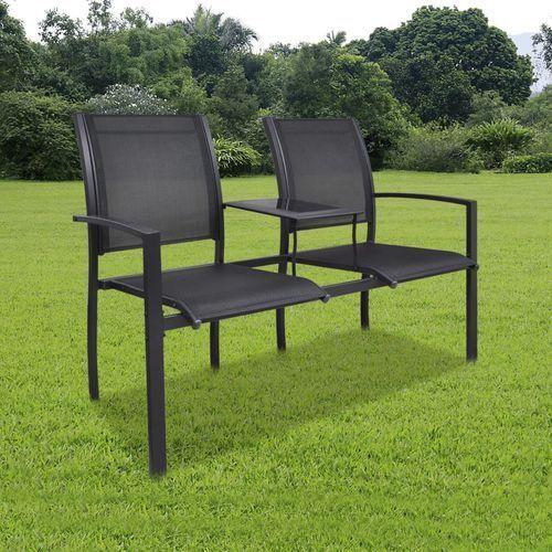 metalowe krzesła ogrodowe z mini stolikiem marki Vidaxl