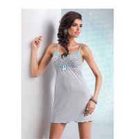 Koszula Nocna Model Michelle Grey, kolor szary