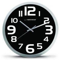 zegar ścienny zurich czarny (ehc013k) darmowy odbiór w 21 miastach! marki Esperanza