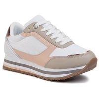 Sneakersy TOMMY HILFIGER - Feminine Tommy Monogram Sneaker FW0FW04706 Sandrift ABR, kolor wielokolorowy