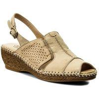 Sandały - 40c1409 beżowy, Lanqier, 36-40