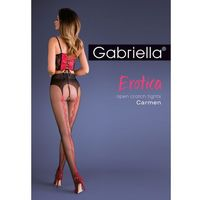 Rajstopy erotica carmen 667 3/4-m/l, czarno-czerwony/nero-red, gabriella marki Gabriella