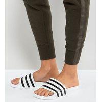adidas Originals Adilette Slider Sandals In White - White