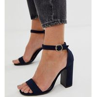 New Look block heeled sandal in navy - Navy, kolor szary