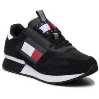 Sneakersy TOMMY JEANS - Lifestyle Tommy Jeans Wmn Runner EN0EN00656 Black 990, kolor czarny