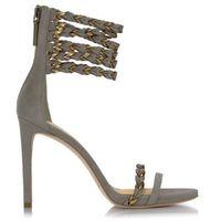 Zamszowe sandały szare marki Pierre balmain