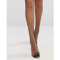 Gipsy Large Scale Fishnet Tights - Black, kolor czarny