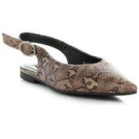 Oryginalne Sandały Damskie z zabudowany przodem w motyw węża Bellucci Khaki (kolory)
