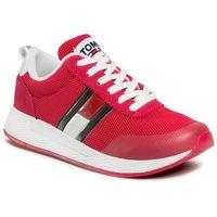 Tommy jeans Sneakersy - technical flexi runner en0en00875 blush red xif