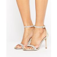 ALDO Ciasa Gold Two Part Heeled Sandals - Gold