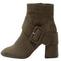 Lost Ink Wide Fit NADIA BUCKLE DETAIL Botki na obcasie khaki, 100411801005