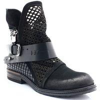 Mario bolucci tl0394 czarne - włoskie botki - czarny