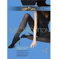 Omsa Micro&Cotton 140 den rajstopy, bawełna