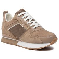 Sneakersy TOMMY HILFIGER - Mix Material Wedge Sneaker FW0FW04421 Tiger's Eye GEZ, w 7 rozmiarach