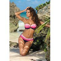 Kostium dwuczęściowy Kostium Kąpielowy Model Taylor Blu Scuro-Rosa Confetto Hollywood-Popstar M-350 Navy/Pink - Marko, figi