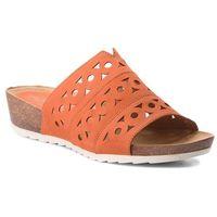 Klapki - 9-27100-20 orange nubuc 609, Caprice, 37-40.5
