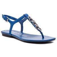 Sandały - silva e8914 royal blue marki Calvin klein