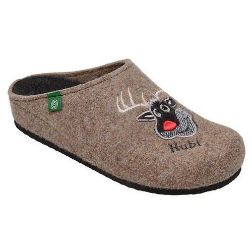 Kapcie pantofle domowe ciapy 320483-2 brązowy - brązowy, Dr brinkmann