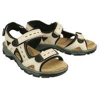 RIEKER 68872-60 beige combination, sandały damskie, kolor beżowy