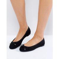 New Look Suedette Bow Ballet Pump - Black, kolor czarny
