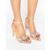 Dune London Magnolea Heeled Sandal With Applique - Silver