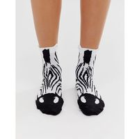 zebra face ankle socks - multi marki Asos design
