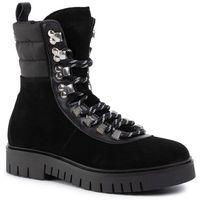 Botki TOMMY JEANS - Padded Nylon Lace Up Boot EN0EN00613 Black 990